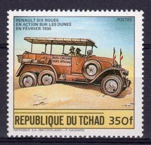 Chad 1984 Mi#1064 Renault (1930) Cars Single (1) Perforated MNH