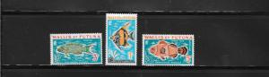 WALLIS & FUTUNA #J37-39  FISH  MNH