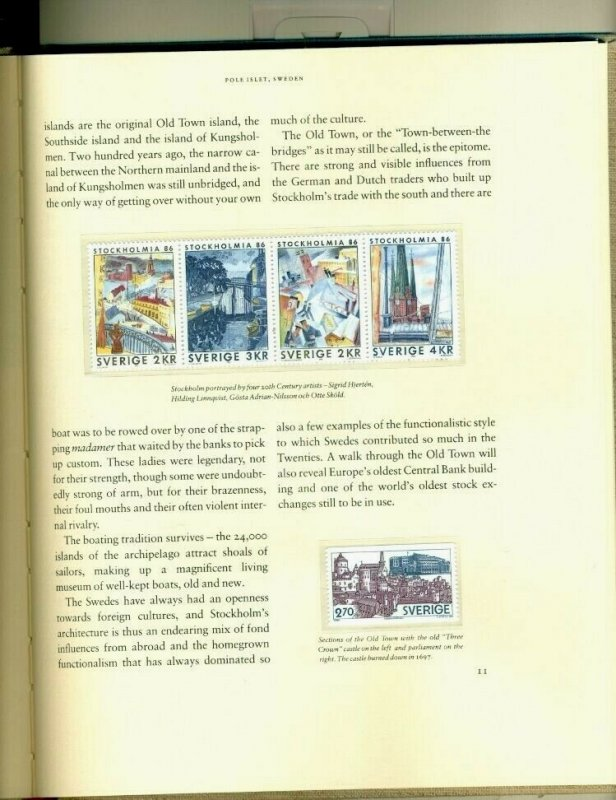 IMAGES OF SWEDEN Text by Kim Loughran, HARD COVERED BOOK w/slipcase