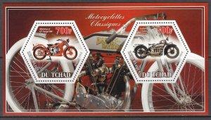 TCHAD CHAD 2014 MOTORCYCLES MOTOS MOTORRÄDER [#A286]