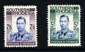 SOUTHERN RHODESIA King George VI 1937 2/6d & 5/- Highest Values SG 51 & 52 MINT
