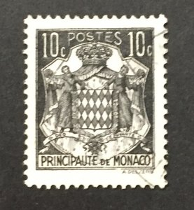 Monaco 1937-43 #149a, Coat of Arms, Used.