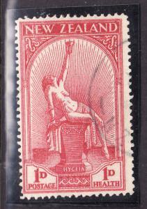 New Zealand-Sc#B5-used semi-postal set-Hygeia ,Goddess of Health-1932-