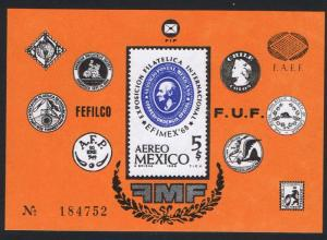 Mexico 'Efimex 68' National Stamp Exhibition MS SG#MS1184 SC#C345
