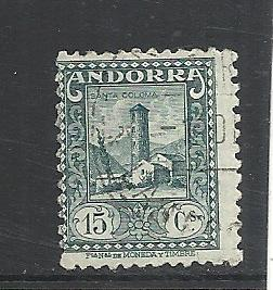 Andorra (Spanish) #16 used cv $4.50