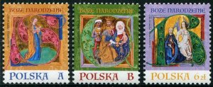 HERRICKSTAMP NEW ISSUES POLAND Sc.# 4313-15 Christmas 2017