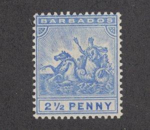 Barbados Sc 74 MLH. 1892 2½p Badge of the Colony, fresh, bright, F-VF