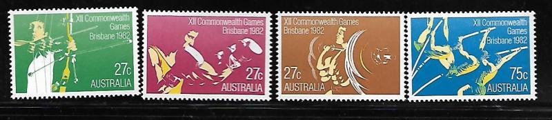 AUSTRALIA 842-845 MNH COMMONWEALTH GAMES