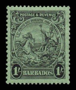 Barbados 1925 KGV 1 perf 13½x12½ SG 237a mint CV