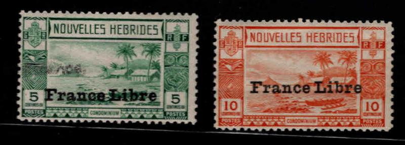 New Hebrides (French) Scott 67-68 MH*