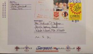 O) 2001 PERU, SCOUT, V JAMBOREE TRUJILLO, SALVATION ARMY IN PERU, FOOD, POSTA...