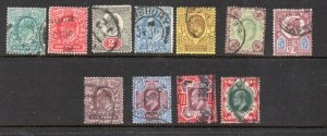 Great Britain Sc127-38 1902 Edward VII stamp set used