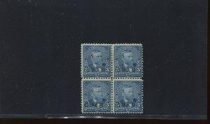 Guam Scott 5 Overprint Mint Block of 4 Stamps (Stock Guam 5-blk 1)