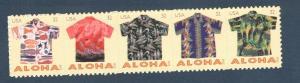 4592-96 (4596a) Aloha Shirts Strip Of 5 Mint/nh Free Shipping
