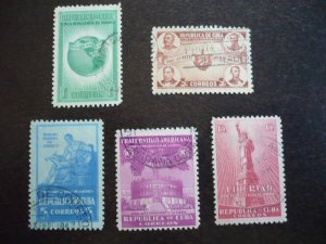 Stamps - Cuba - Scott# 368-372 - Used Set of 5 Stamps