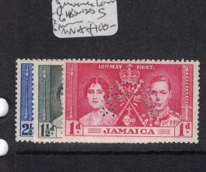 Jamaica Coronation SG 118s-120s MNH (5dqj)