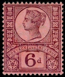 SG208 SPEC K37(3), 6d slate-purple/rose-red, M MINT. Cat £45.