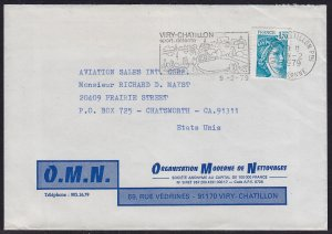 France - 1979 - Scott #1574 - used on cover to USA