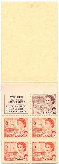 Canada USC #BK59b 1968 Complete Booklet Low Fl. VF-NH