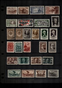 Russia  MH  and used lot of 27 cat $38.00