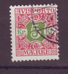 J16646 JLstamps 1907 denmark perf 13 used #p9 newspaper stamp $45.00 scv
