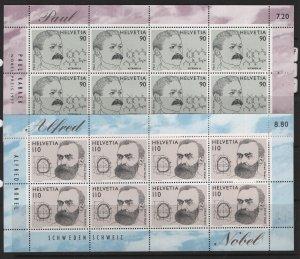 SWITZERLAND,1004-1005, Sheets, MNH, 1997 Paul Karrer winner of Nobel prize