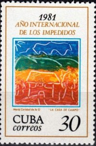 CUBA Sc# 2426  YEAR OF THE DISABLED  1981 Mint Never Hinged MNH