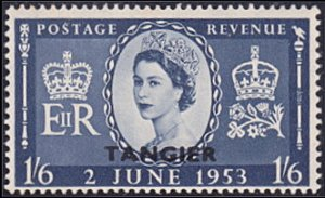 "Great Britain – Morocco # 582 hinged ~ 1sh6p ""Tangier"" overprint on Q. ..."