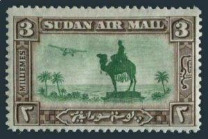 Sudan C4,lightly hinged.Michel 54. Air Post 1931.Statue of Gen.C.G Gordon.