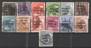 Germany - SBZ 1948 lot Used G/VG - Early SBZ overprint issues