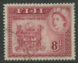 STAMP STATION PERTH Fiji #155 QEII Definitive Issue Used 1954 CV$1.60