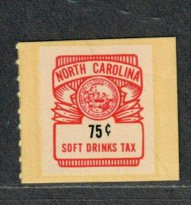 North Carolina State Revenue Stamp Sc#SD20 M/NH/VF Soft Drink
