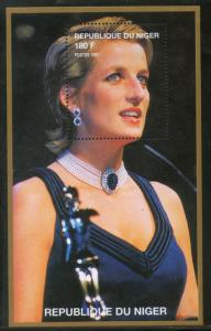 Niger MNH S/S 13098 Lady Diana In Navy Dress 1997