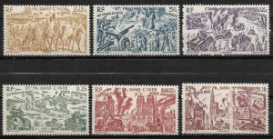 Doyle's_Stamps: French India 1946 Chad to the Rhine Set #C8** to #C13**