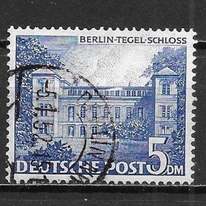 Germany Berlin 9N60 5m Tegel Castle single Used (z1)