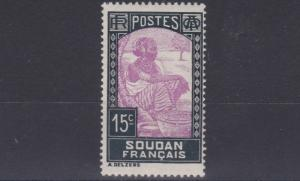 FRENCH COLONIES SUDAN  1931  15C  VIOLET & BLACK      MH