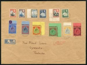 Bermuda 20 Jan 1938 KGVI 1d to One Pound FIRST DAY COVER Very RARE