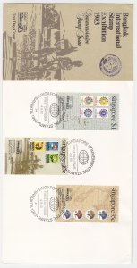 1983, Singapore: Bangkok Int'l Stamp Exhibition, FDC (S18892)