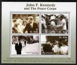 St Kitts 2007 90th Birth Anniversary of John F Kennedy pe...