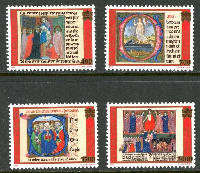 Vatican City MNH mint 1113-6 art illuminated manuscripts      (Inv 001760.)