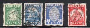 Estonia Sc  134-7 1936 St Brigatta Convent stamp set used