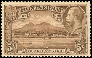 Montserrat Scott 75-84 Gibbons 84-93 Never Hinged Set of Stamps