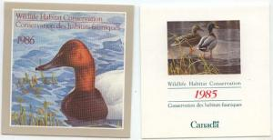 Canada - USC #FWH1-13 1985/1997 Fed. Wlife Conservation 13 Diff. Mint Bklts Cpl.
