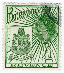 (I.B) Bermuda Revenue : Duty Stamp £1