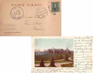 United States Massachusetts Wellesley 1904 numeral duplex  1862-1913  PPC (Ma...