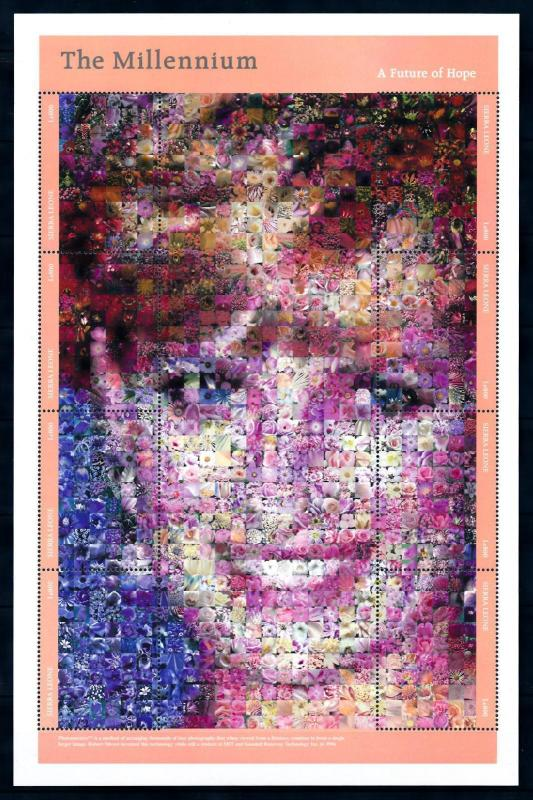 [95339] Sierra Leone 2000 Royalty Princess Diana Flora Flowers Sheet MNH
