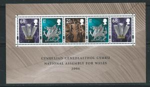 Great Britain Wales 23a 2006 National Assembly s.s. MNH