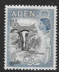 ADEN SG68 1956 5/= BLACK & DEEP DULL BLUE MTD MINT