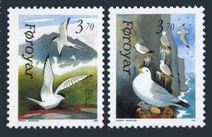 Faroe 224-225,MNH.Michel 221-222.Birds 1991. Rissa Tridacttyla,Sterna paradisaea