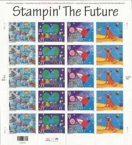 US Stamp - 2000 Stampin' the Future - 20 Stamp Sheet - Scott #3414-7